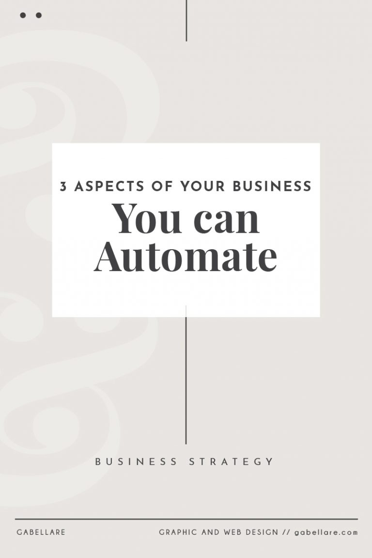 Read more about the article 3 Aspects of your Business you can Automate